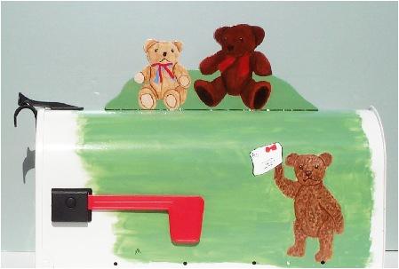 teddy bear mailbox