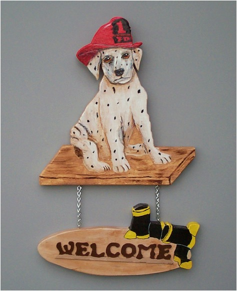Handpainted Dalmation Welcome Sign